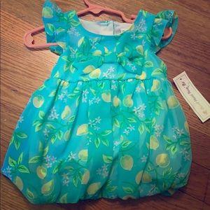 Shiffon baby girl lemon dress.